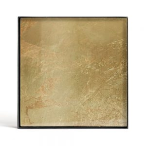 Elegant Living ПОДНОС GOLD LEAF GLASS S