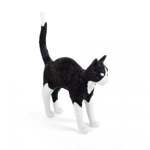 Elegant Living НАСТОЛНА ЛАМПА JOBBY THE CAT BLACK & WHITE SELETTI
