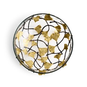 Elegant Living КУПА GOLDEN GINKGO MEDIUM GLASS