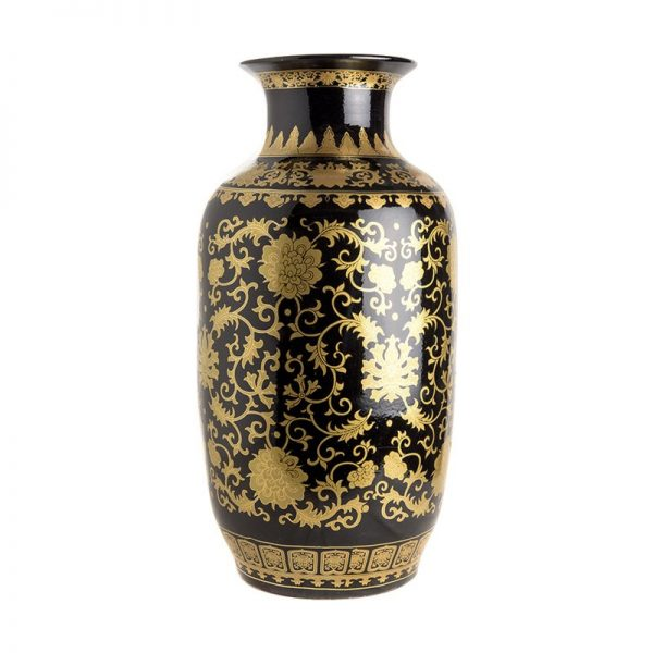 Elegant Living ВАЗА STRAIGHT BLACK GOLD