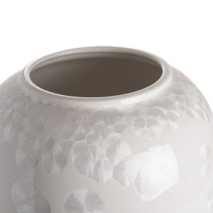 Elegant Living ВАЗА OVOID MOTHER OF PEARL WHITE