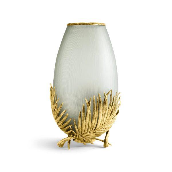 michael aram palm medium glass