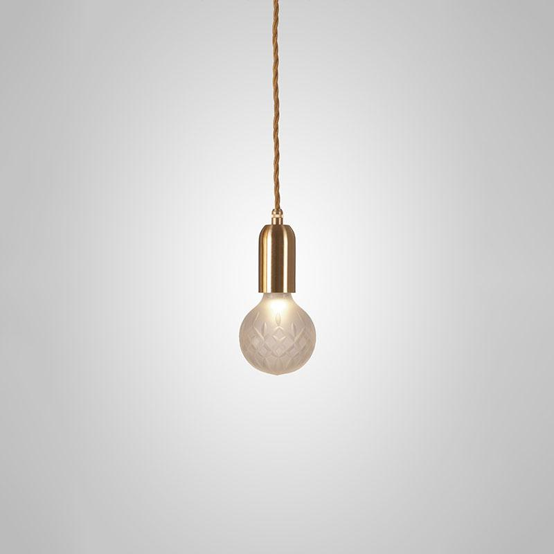 пендант lee broom crystal bulb frosted